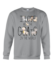 I love all the goats Crewneck Sweatshirt thumbnail
