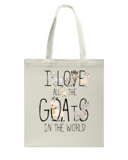 I love all the goats Tote Bag thumbnail