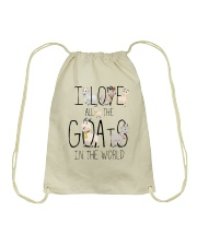 I love all the goats Drawstring Bag thumbnail