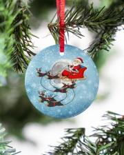 Dachshund Santa Clause Circle ornament - single (porcelain) aos-circle-ornament-single-porcelain-lifestyles-07
