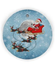 Dachshund Santa Clause Circle ornament - single (wood) thumbnail