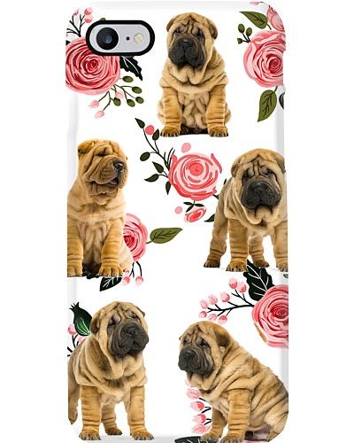 Shar Pei Flower Phone Case
