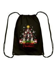 Bernese Mountain Dog Merry Christmas  Drawstring Bag thumbnail
