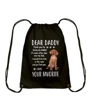 Dear Vizsla Daddy Drawstring Bag thumbnail