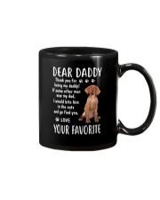 Dear Vizsla Daddy Mug front