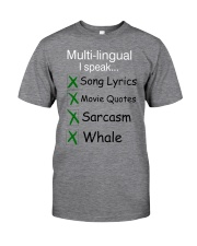 Funny- Multi-lingual Classic T-Shirt front