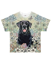 Labrador Flower Field All-over T-Shirt front