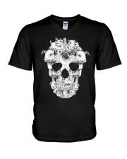 Pig Skull V-Neck T-Shirt thumbnail