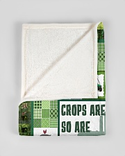 "Tractor Funny Crop Are Green Graphic Design Small Fleece Blanket - 30"" x 40"" aos-coral-fleece-blanket-30x40-lifestyle-front-17"