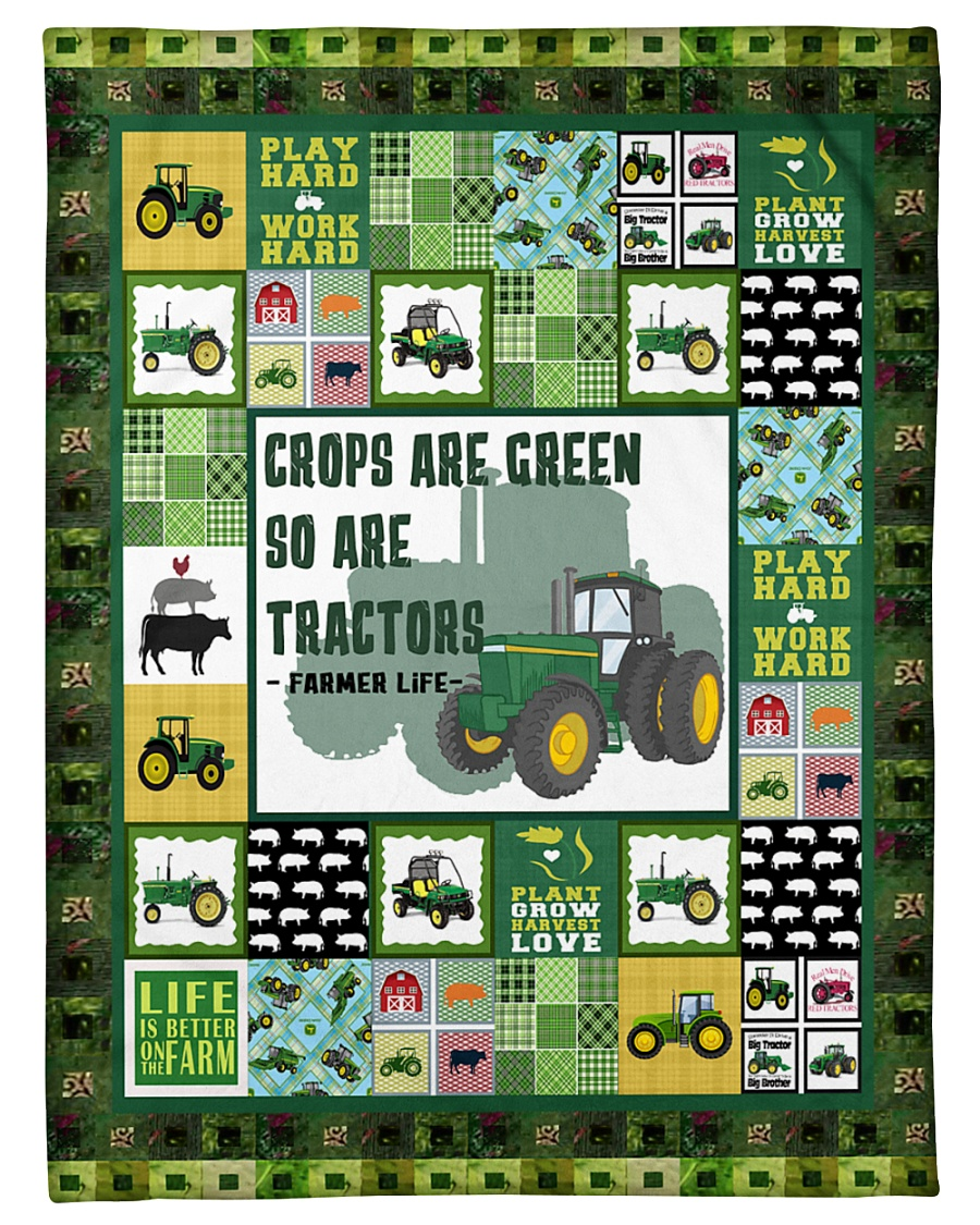 """Tractor Funny Crop Are Green Graphic Design Small Fleece Blanket - 30"""" x 40"""""""