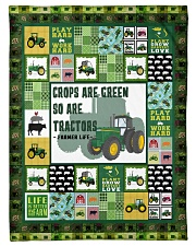 "Tractor Funny Crop Are Green Graphic Design Small Fleece Blanket - 30"" x 40"" front"