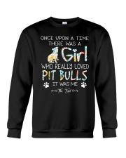 Pitbull Girl Crewneck Sweatshirt thumbnail