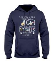 Pitbull Girl Hooded Sweatshirt thumbnail