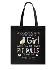 Pitbull Girl Tote Bag thumbnail