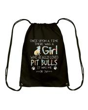 Pitbull Girl Drawstring Bag thumbnail