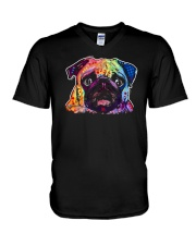Pug - Perfect Gift For Christmas V-Neck T-Shirt thumbnail
