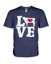 Cows- Love V-Neck T-Shirt thumbnail