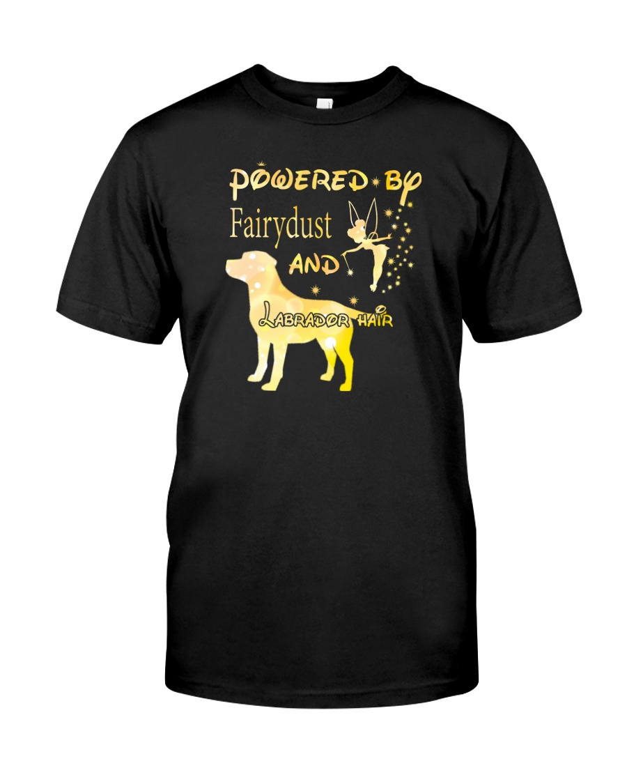Powered By Fairydust And Labrador Hair Classic T-Shirt