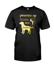 Powered By Fairydust And Labrador Hair Classic T-Shirt front