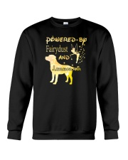 Powered By Fairydust And Labrador Hair Crewneck Sweatshirt thumbnail