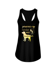 Powered By Fairydust And Labrador Hair Ladies Flowy Tank thumbnail