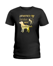 Powered By Fairydust And Labrador Hair Ladies T-Shirt thumbnail