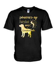 Powered By Fairydust And Labrador Hair V-Neck T-Shirt thumbnail