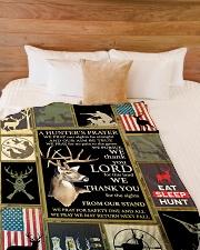 "Deer A Hunter's Prayer Large Fleece Blanket - 60"" x 80"" aos-coral-fleece-blanket-60x80-lifestyle-front-02"
