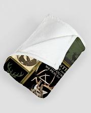 "Deer A Hunter's Prayer Large Fleece Blanket - 60"" x 80"" aos-coral-fleece-blanket-60x80-lifestyle-front-07"