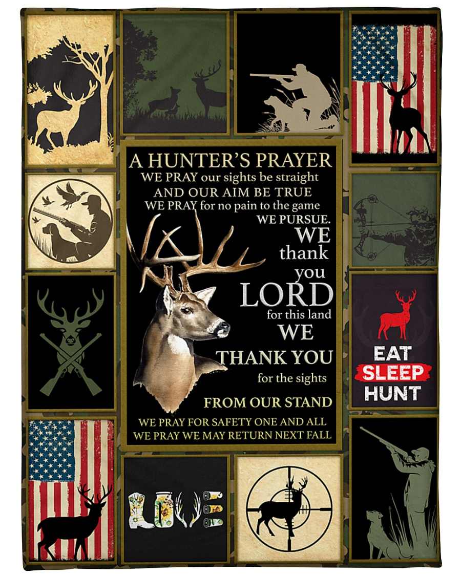 "Deer A Hunter's Prayer Large Fleece Blanket - 60"" x 80"""