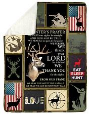 "Deer A Hunter's Prayer Large Sherpa Fleece Blanket - 60"" x 80"" thumbnail"