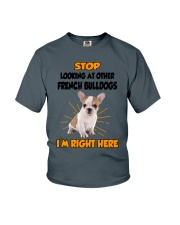 French Bulldogs I'm Here Youth T-Shirt thumbnail