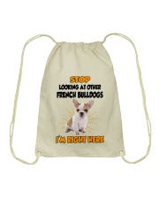 French Bulldogs I'm Here Drawstring Bag thumbnail