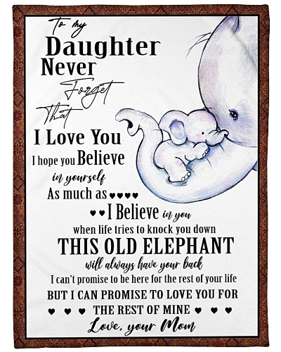 Elephant Daughter And Mom