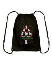 West Highland White Terrier Christmas Drawstring Bag thumbnail