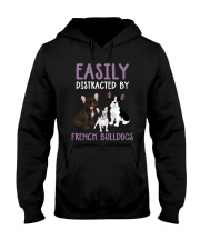 Easily Distracted By French BulldogS Hooded Sweatshirt thumbnail