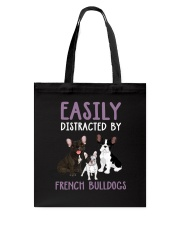 Easily Distracted By French BulldogS Tote Bag thumbnail