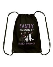 Easily Distracted By French BulldogS Drawstring Bag thumbnail