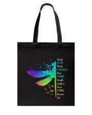 Dragonfly - Smile Often Tote Bag thumbnail