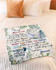 """To My Mummy I've Only Been With You Elephant Small Fleece Blanket - 30"""" x 40"""" aos-coral-fleece-blanket-30x40-lifestyle-front-01"""