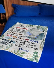 """To My Mummy I've Only Been With You Elephant Small Fleece Blanket - 30"""" x 40"""" aos-coral-fleece-blanket-30x40-lifestyle-front-02"""