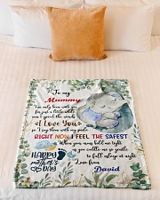 """To My Mummy I've Only Been With You Elephant Small Fleece Blanket - 30"""" x 40"""" aos-coral-fleece-blanket-30x40-lifestyle-front-04"""