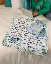 """To My Mummy I've Only Been With You Elephant Small Fleece Blanket - 30"""" x 40"""" aos-coral-fleece-blanket-30x40-lifestyle-front-07"""