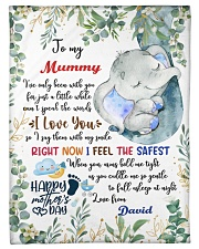 """To My Mummy I've Only Been With You Elephant Small Fleece Blanket - 30"""" x 40"""" front"""