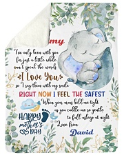 """To My Mummy I've Only Been With You Elephant Large Sherpa Fleece Blanket - 60"""" x 80"""" thumbnail"""