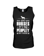 Stay Home With Horses Unisex Tank thumbnail