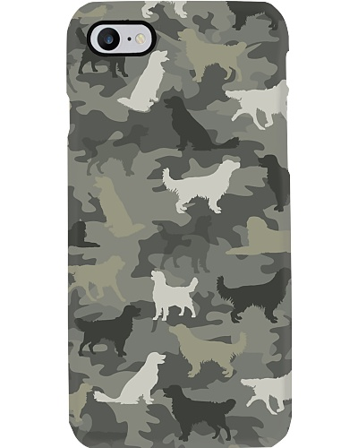 Golden Retriever Camouflage Phonecase