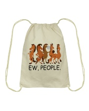 Horse Ew People Drawstring Bag thumbnail
