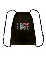 Love Sloth Flower Drawstring Bag thumbnail