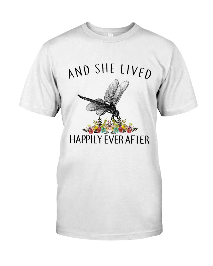 Dragonfly Lived Happily Classic T-Shirt